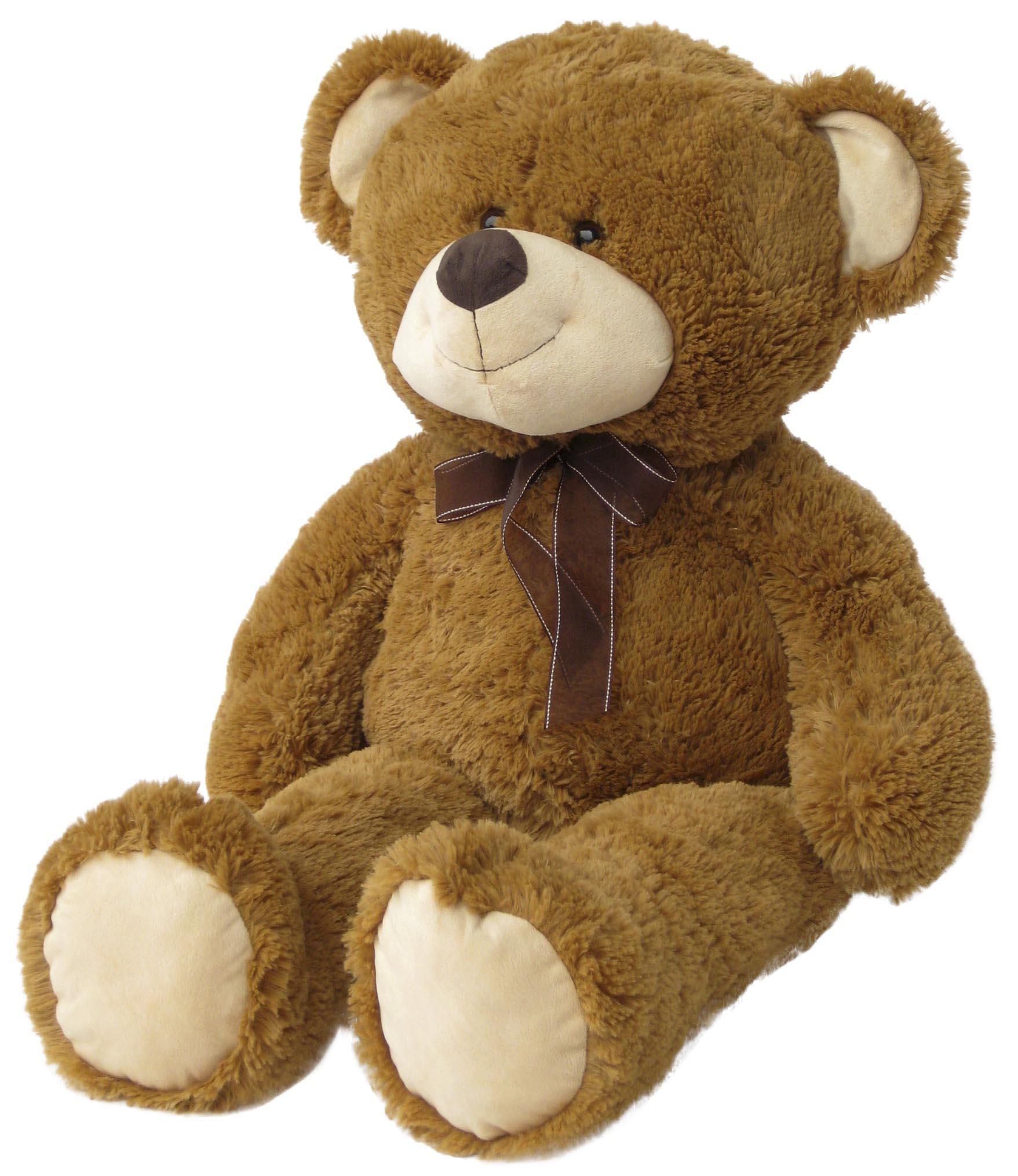 wagner 9022 xxl teddyb r 100 cm braun pl schb r teddy. Black Bedroom Furniture Sets. Home Design Ideas